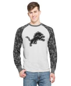 Detroit Lions Stealth Camo Raglan Mens Cinderblock 47 Brand