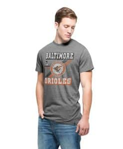 Baltimore Orioles Tri-State T-Shirt Mens Vintage Grey 47 Brand