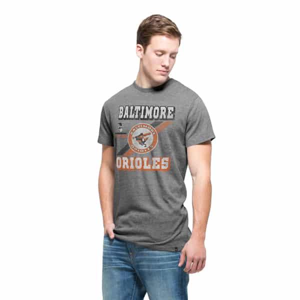 Baltimore Orioles Tri-State T-Shirt Mens Vintage Grey 47 Brand
