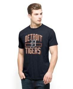 Detroit Tigers Scrum T-Shirt Mens Fall Navy 47 Brand
