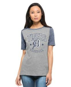 Detroit Tigers Empire T-Shirt Womens Vintage Grey 47 Brand