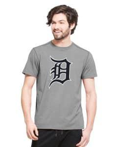 Detroit Tigers High Point T-Shirt Mens Shift Grey 47 Brand