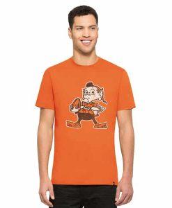 Cleveland Browns Knockaround Flanker T-Shirt Mens Carrot 47 Brand