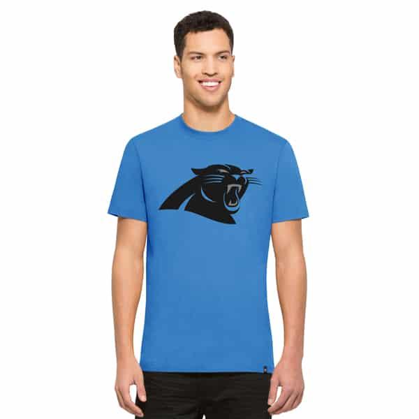 Carolina Panthers Crosstown Flanker T-Shirt Mens Glacier Blue 47 Brand