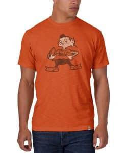 Cleveland Browns Men's 47 Brand Orange Classic Scrum T-Shirt Tee