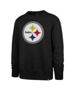 Pittsburgh Steelers Men's 47 Brand Logo Black Crew Long Sleeve Pullover