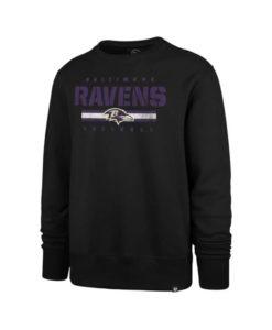 Baltimore Ravens Men's 47 Brand Black Crew Long Sleeve Pullover