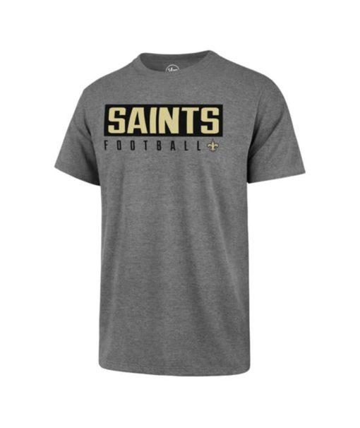New Orleans Saints Men's 47 Brand Gray Rival T-Shirt Tee