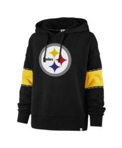 Pittsburgh Steelers Women's 47 Brand Black Pullover Hoodie