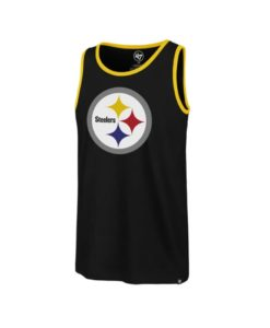 Pittsburgh Steelers Men's 47 Brand Black Splitter Tank Top