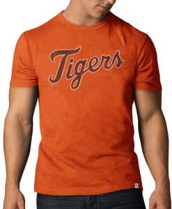 Detroit Tigers Scrum T-Shirt Mens Carrot 47 Brand