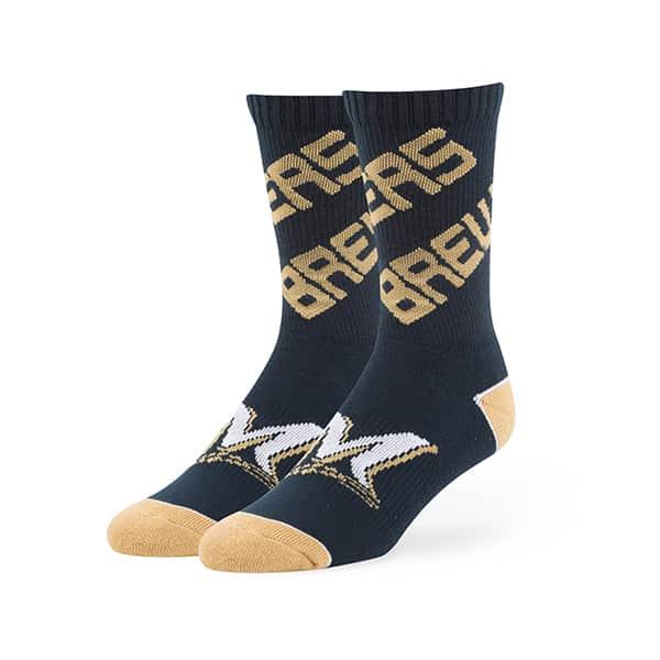 Milwaukee Brewers Helix Sport Socks Navy 47 Brand