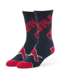 St. Louis Cardinals Helix Sport Socks Navy 47 Brand