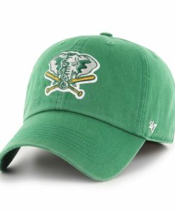 Oakland Athletics 47 Brand Cooperstown Vintage Green Franchise Fitted Hat