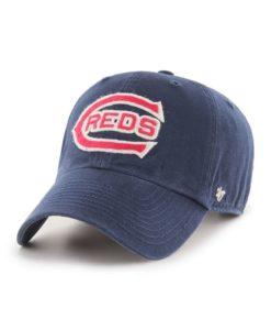 Cincinnati Reds 47 Brand Cooperstown Mclean Navy Clean Up Adjustable Hat