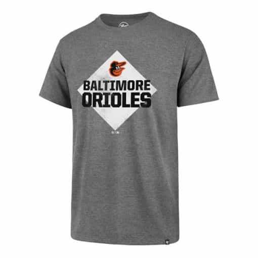 Baltimore Orioles Men's 47 Brand Slate Gray Rival T-Shirt Tee