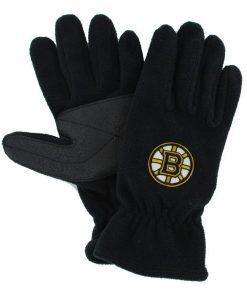Boston Bruins Men's 47 Brand Black Fleece Gloves