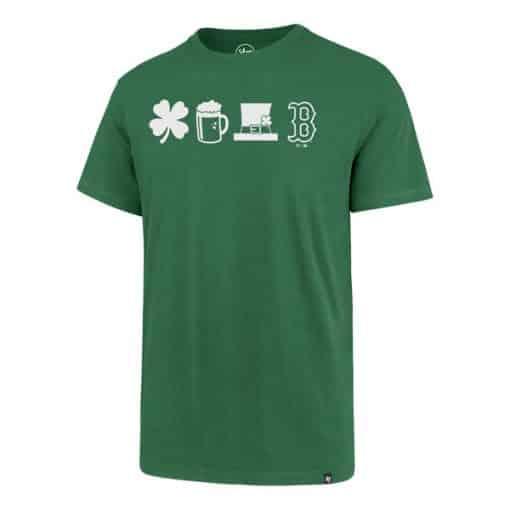 Boston Red Sox Men's 47 Brand Green St. Patricks Day T-Shirt Tee