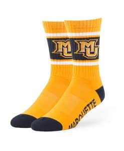 Marquette Golden Eagles Duster Sport Socks Gold 47 Brand