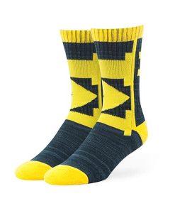 Michigan Wolverines 47 Brand Navy Hot Box Sport Socks