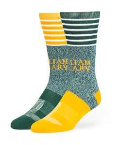 William & Mary Tribe Vernon Fuse Socks Dark Green 47 Brand