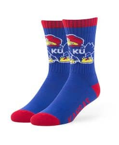 Kansas Jayhawks Bolt Sport Socks Royal 47 Brand