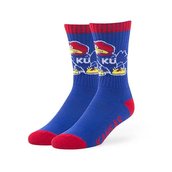 Kansas Jayhawks Bolt Sport Socks Royal 47 Brand