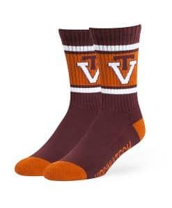 Virginia Tech Hokies Duster Sport Socks Dark Maroon 47 Brand