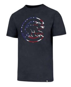 Chicago Cubs Men's 47 Brand Red White & Blue T-Shirt Tee
