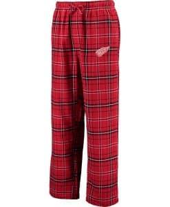 Detroit Red Wings Mens Plaid Flannel Pajama Pants