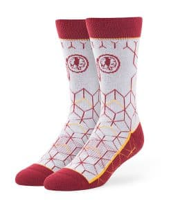 Washington Redskins Beehive Fuse Socks Gray 47 Brand