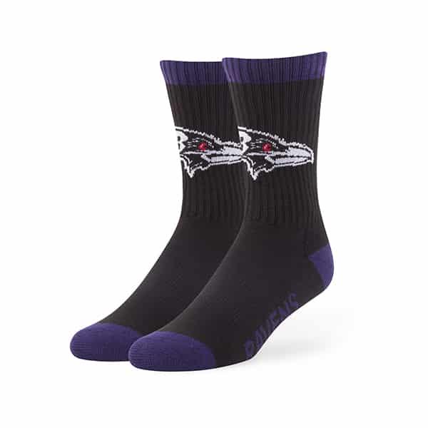 Baltimore Ravens 47 Brand Black Bolt Sport Socks