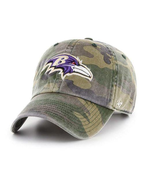 Baltimore Ravens 47 Brand Camo Cargo Clean Up Adjustable Hat