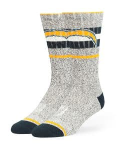 San Diego Chargers Collins Fuse Socks Brown 47 Brand