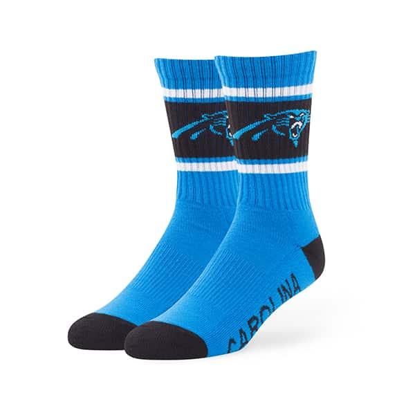 Carolina Panthers Duster Sport Socks Glacier Blue 47 Brand