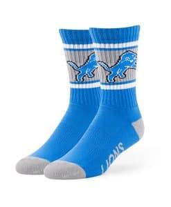 Detroit Lions Duster Sport Socks Blue Raz 47 Brand