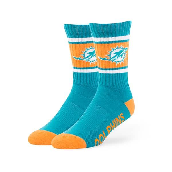 Miami Dolphins Duster Sport Socks Neptune 47 Brand