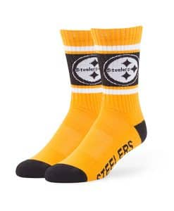 Pittsburgh Steelers Duster Sport Socks Gold 47 Brand