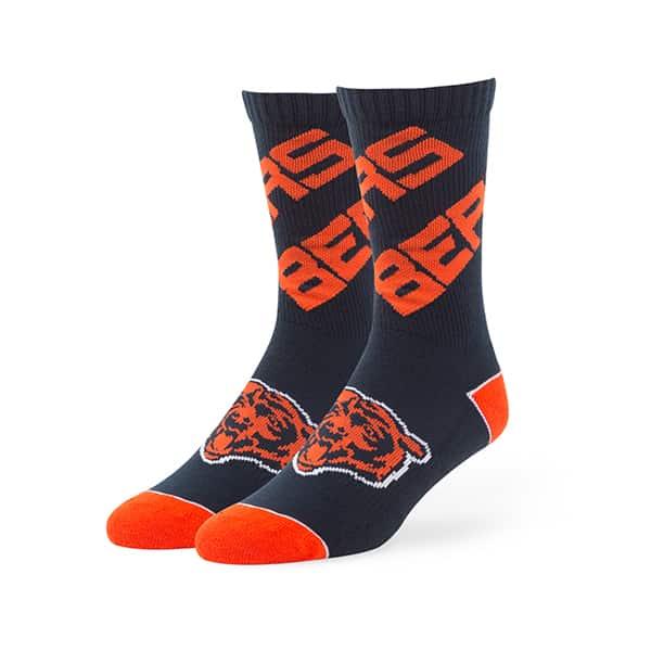 Chicago Bears 47 Brand Navy Helix Sport Socks