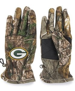 Green Bay Packers 47 Brand Realtree Camo Fleece Gloves