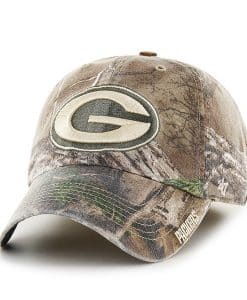 Green Bay Packers 47 Brand Realtree Camo Franchise Fitted Hat