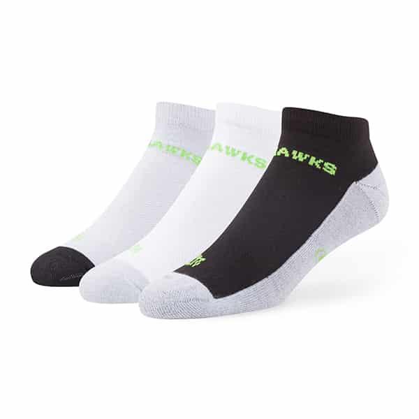 Seattle Seahawks Rush Motion Low Cut Socks 3 Pack Tonal 47 Brand