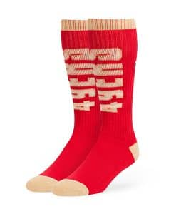 San Francisco 49ers 47 Brand Red Warner Sport Socks