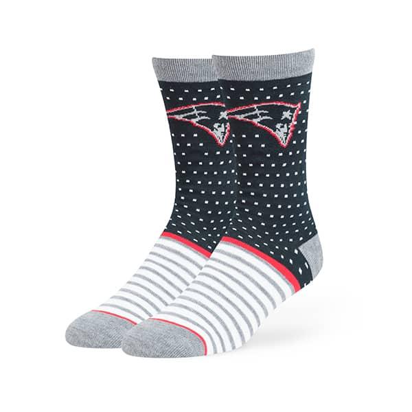 New England Patriots Willard Flat Knit Socks Navy 47 Brand