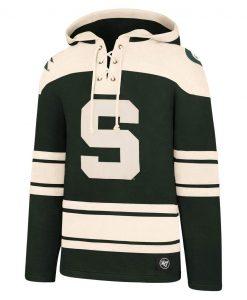 Michigan State Spartans Men's 47 Brand Dark Green Pullover Jersey Hoodie