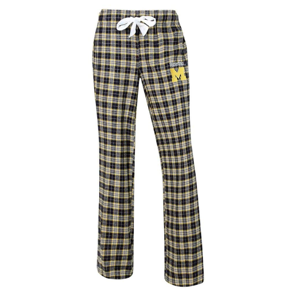 Michigan Wolverines Womens Flannel Pajama Pants