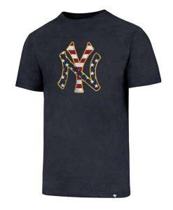 New York Yankees Men's 47 Brand Red White & Blue T-Shirt Tee
