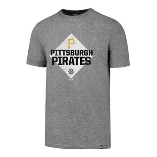 Pittsburgh Pirates Men's 47 Brand Slate Gray Rival T-Shirt Tee