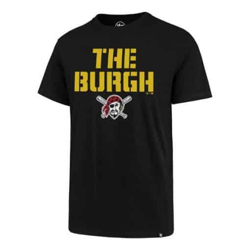 Pittsburgh Pirates Men's 47 Brand The Burgh Black T-Shirt Tee