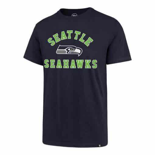 Seattle Seahawks Men's 47 Brand Light Navy Rival T-Shirt Tee